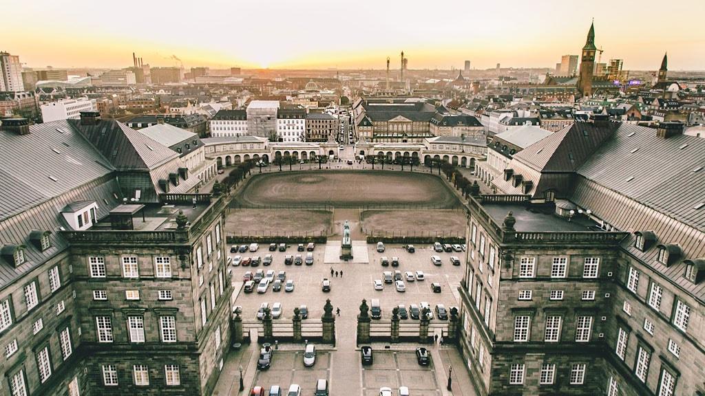 Udsigt over Slotsholmen fra Christiansborg