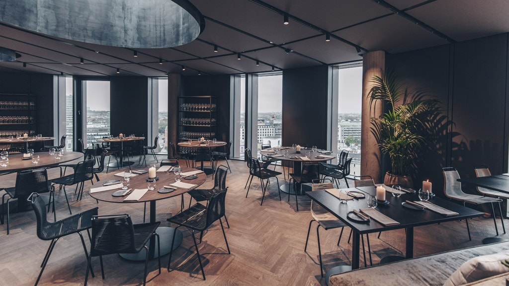 Restaurant og bar TRIO i Axel Towers.