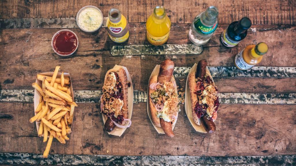 John's hotdog deli at the Meatpacking district in Copenhagen