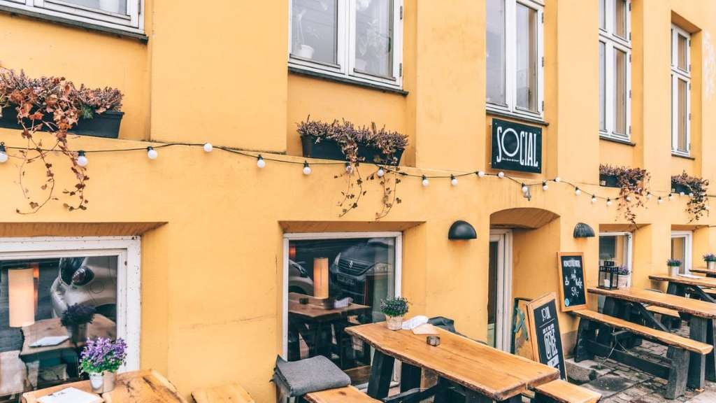 Social coffee and cafe at Nørrebro in Copenhagen