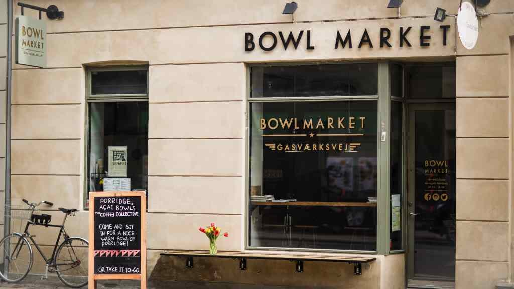 Bowl market porridge and bowl food