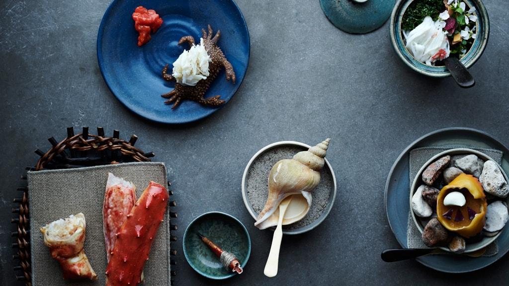 The seafood menu at Restaurant noma