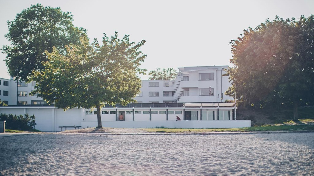 Arne Jacobsen architecture north of Copenhagen