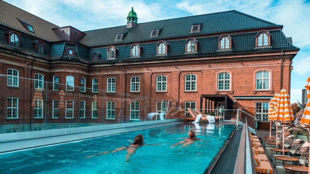 Villa Copenhagen is located in the refurbished central post office in Copenhagen