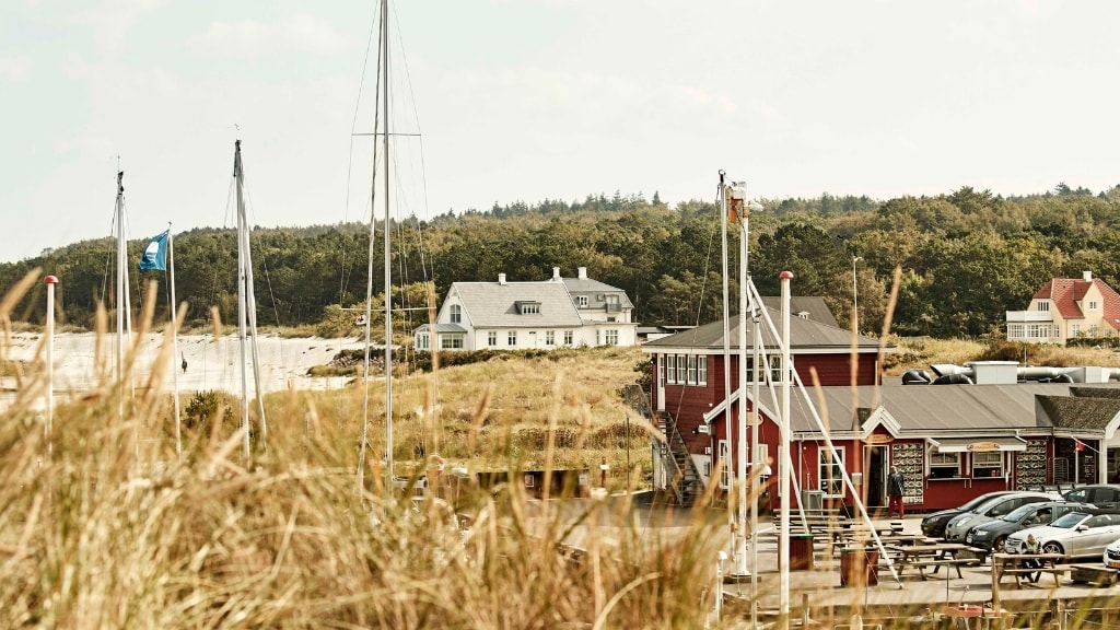 Hornbæk havn og strand