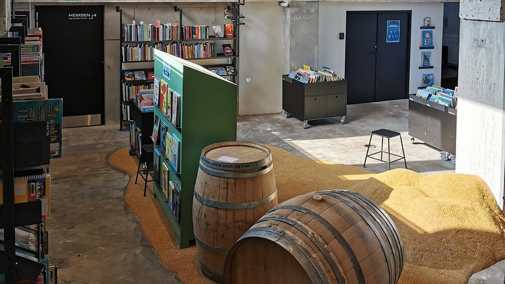 Ebeltoft Bibliotek i Maltfabrikken