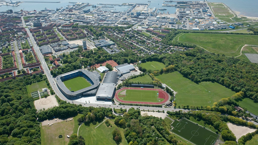 Aerial photo of Sport and Event Park Esbjerg