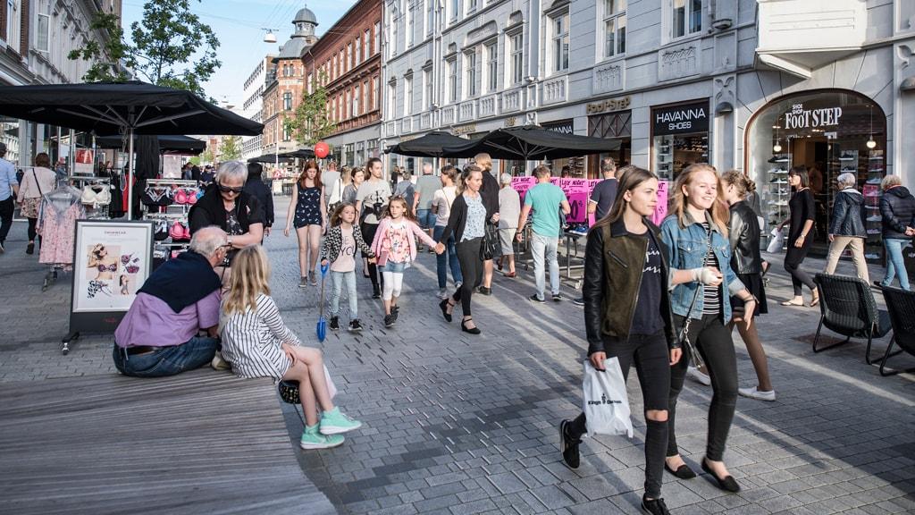 Einkaufen in der Kongensgade in Esbjerg