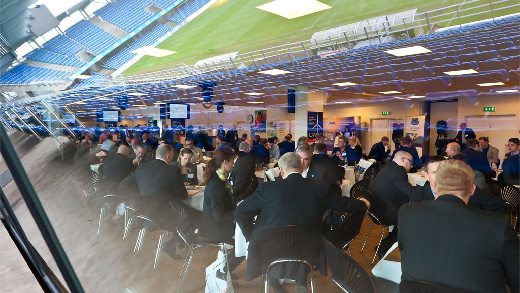 EfB conference overlooking the stadium