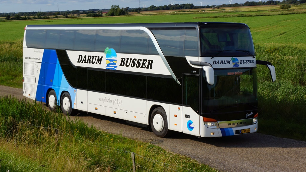 A bus from Darum Buses