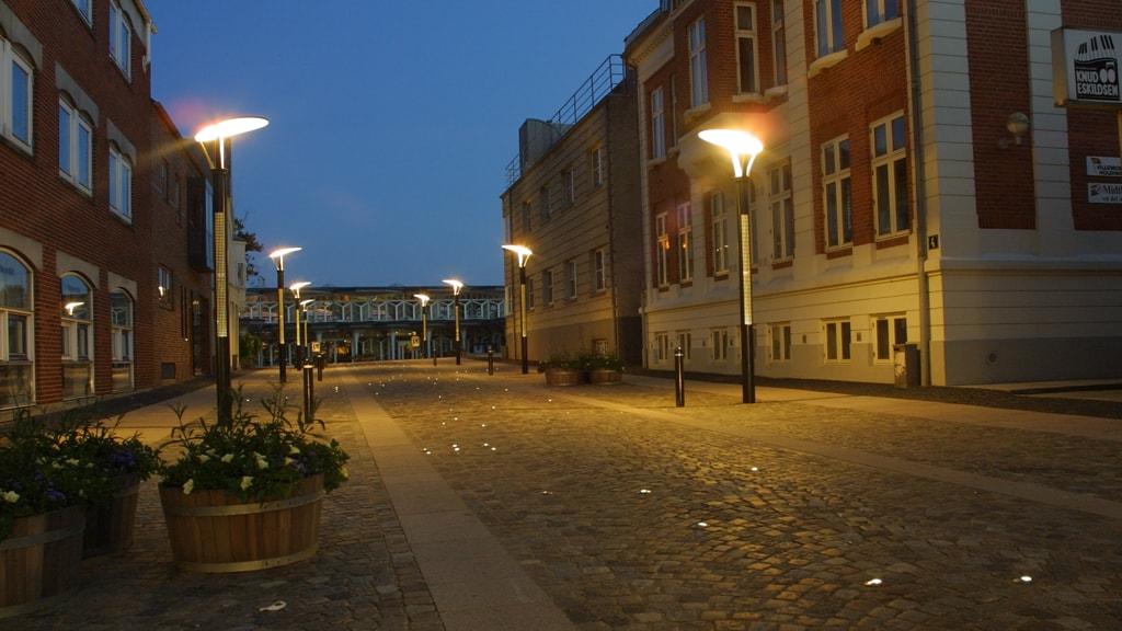 Lysskulpturen Stjernedrys i Esbjerg