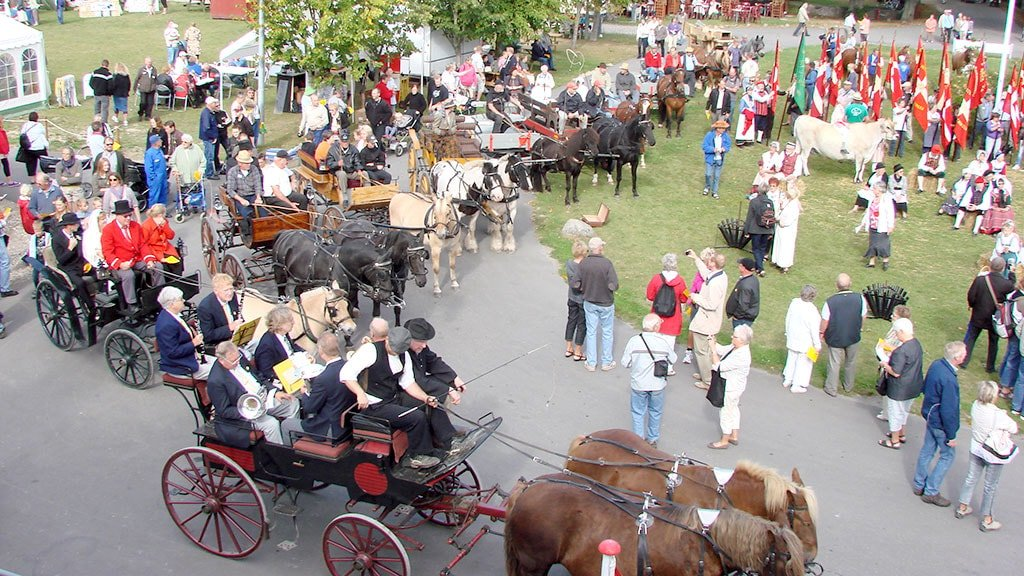 The annual harvest market in the cooperative village Nyvang