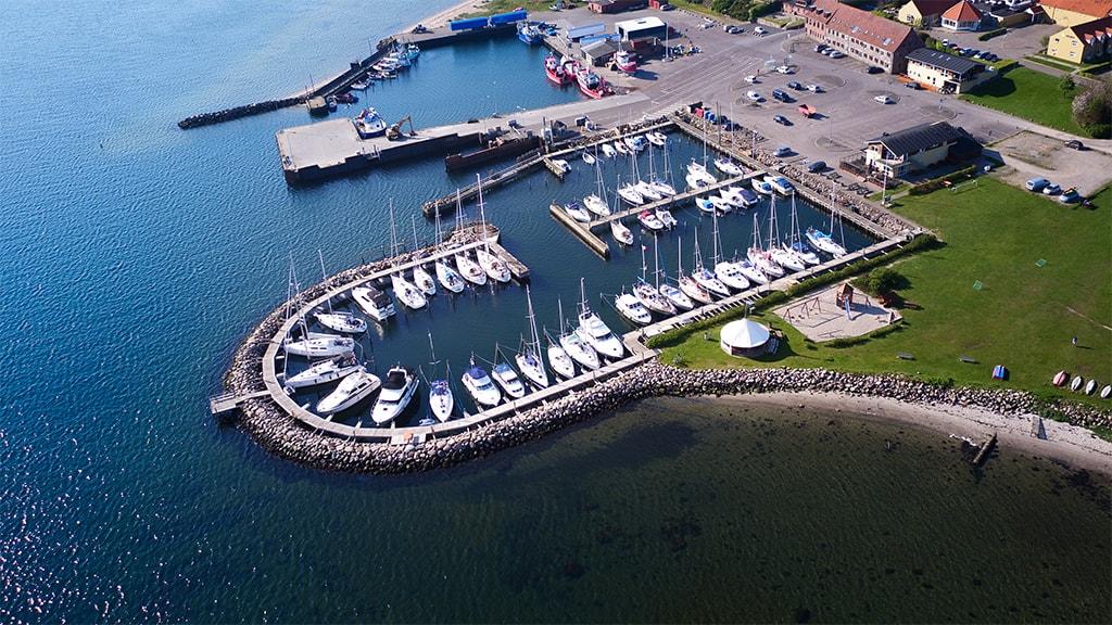 Snaptun Havn luftfoto
