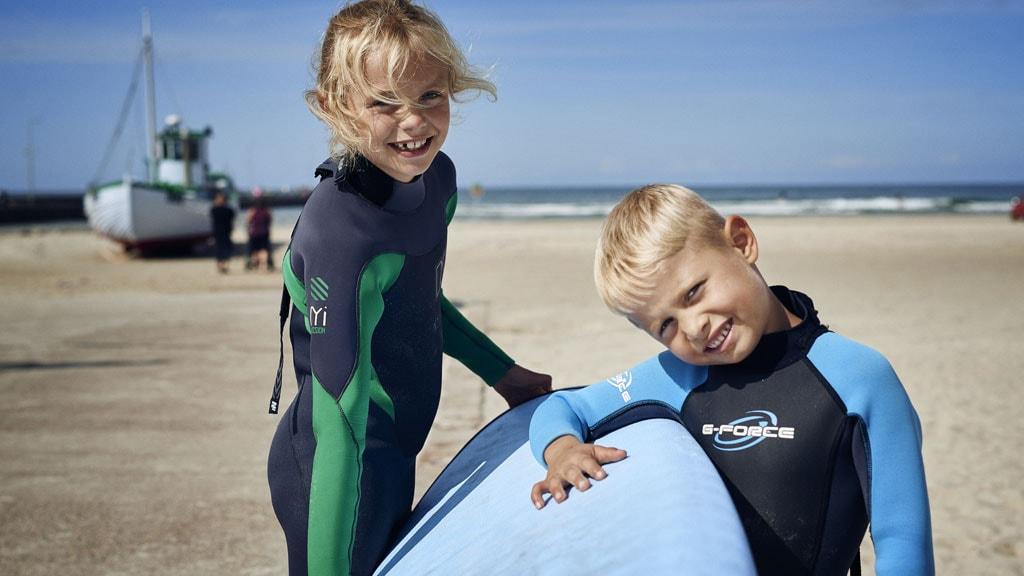 North Shore Surf surfing løkken i børnehøjde