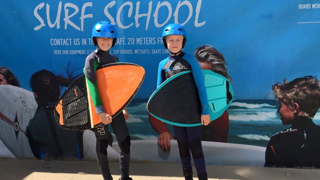 North Shore Surf surfing skimboarding