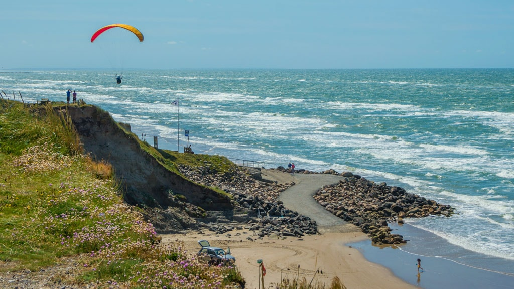Paraglider Nr. Lyngby strand