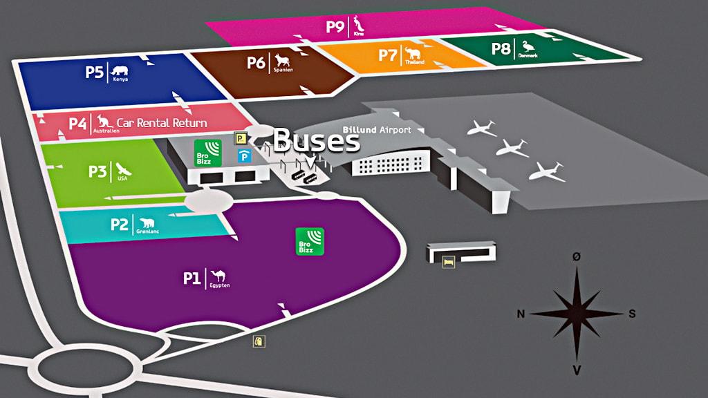 Busser Billund Lufthavn