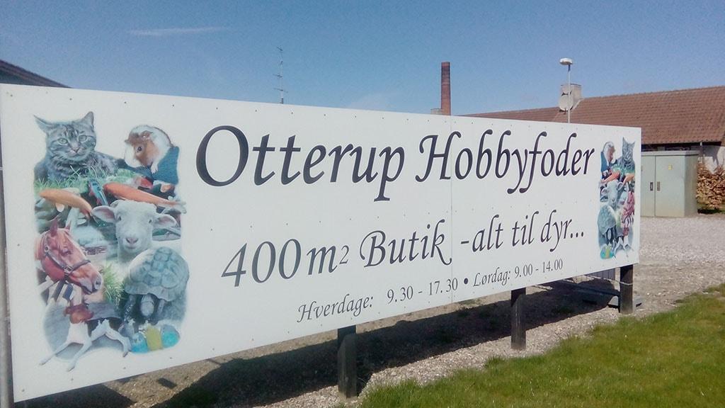 Skilt til Otterup Hobbyfoder