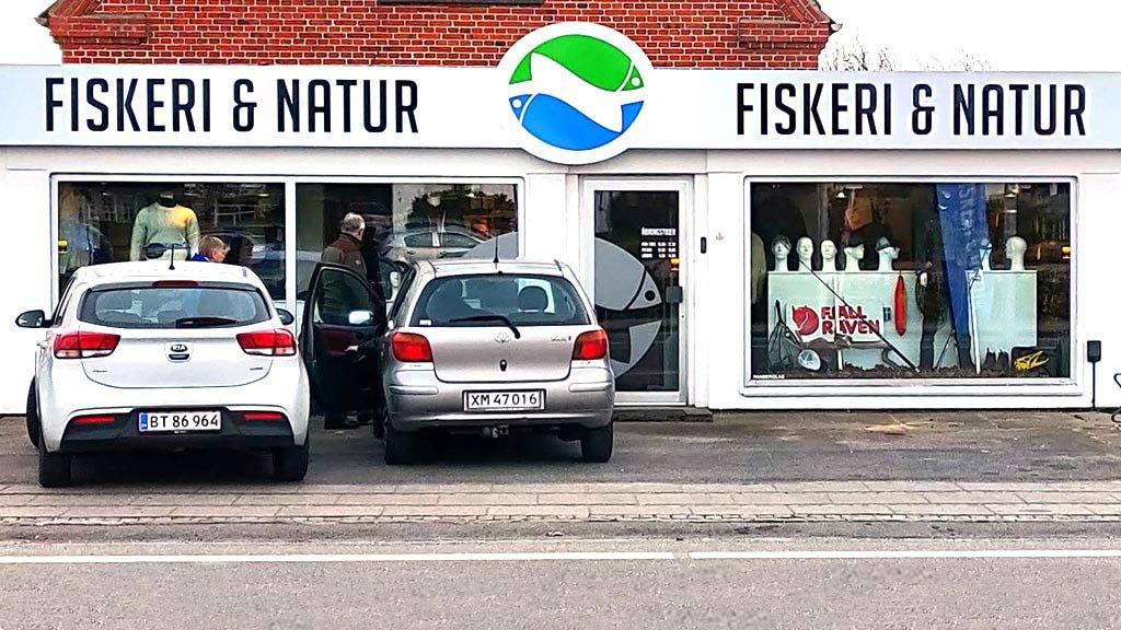 Facaden på Fiskeri & Natur