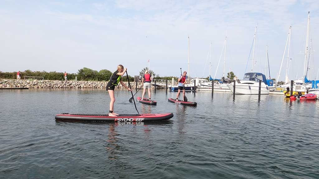 Stand up paddling Bogense Marina