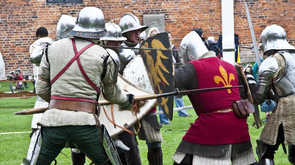 Nyborg Kampdage riddere sværd rustning kamp