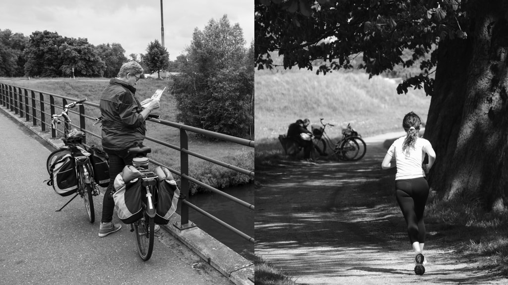 Cykel og løbeture sommeren 2016 i Nyborg