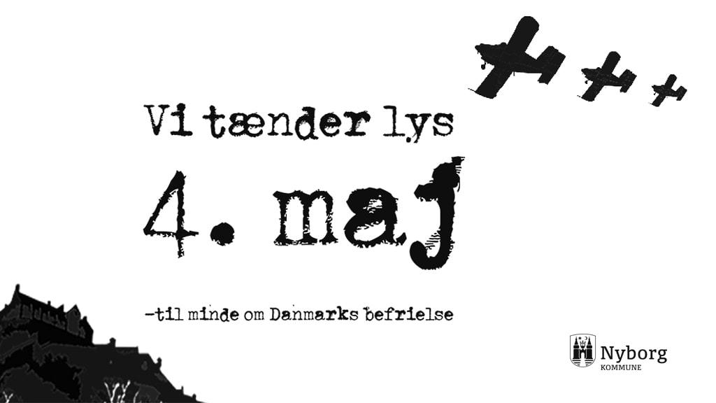 Danmarks Befrielse fejres med lystænding i Nyborg