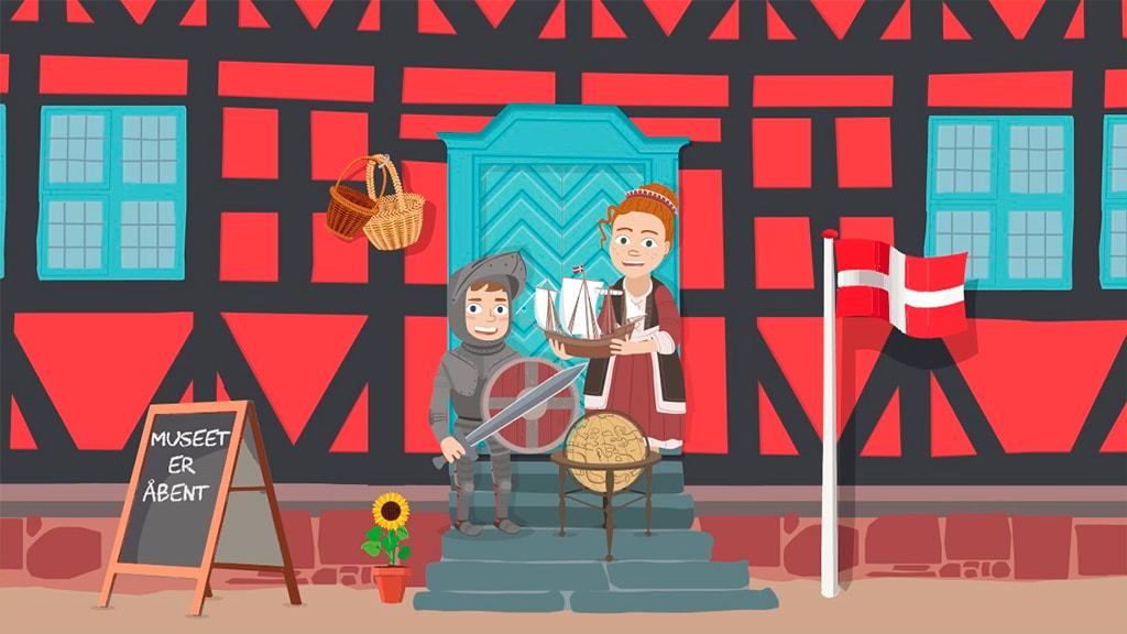 Jakob og Johanne inviterer indenfor på Borgmestergården i Nyborg