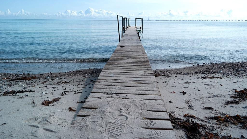 Nyborg Fyn Danmark stranden ved strandhotellerne