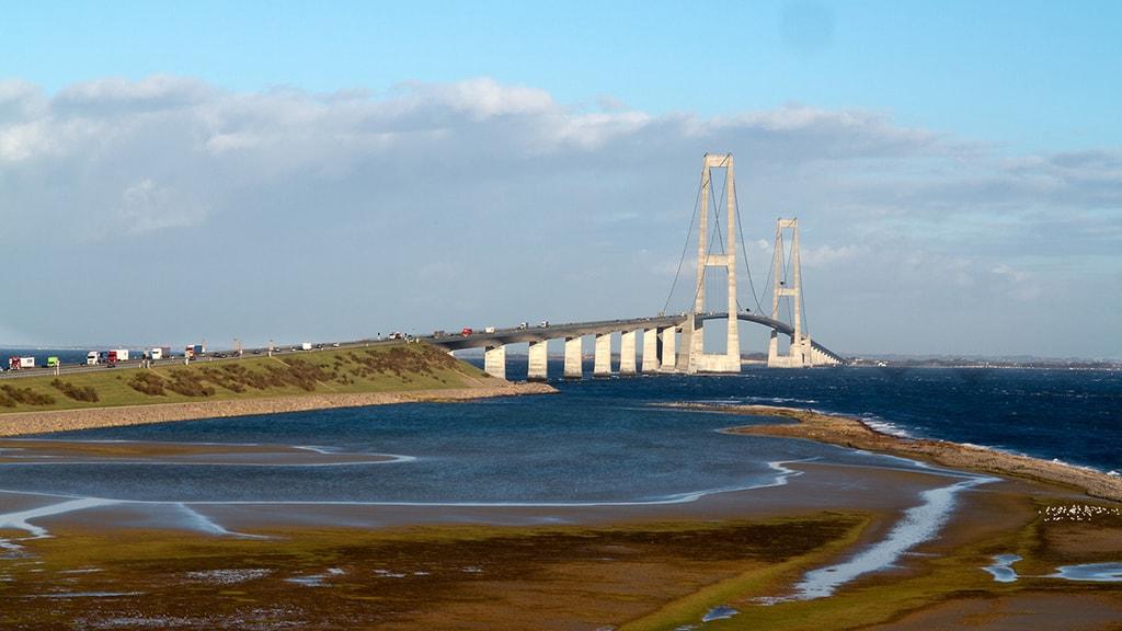 Nyborg Fyn Danmark Sprogø Storebæltsbroen