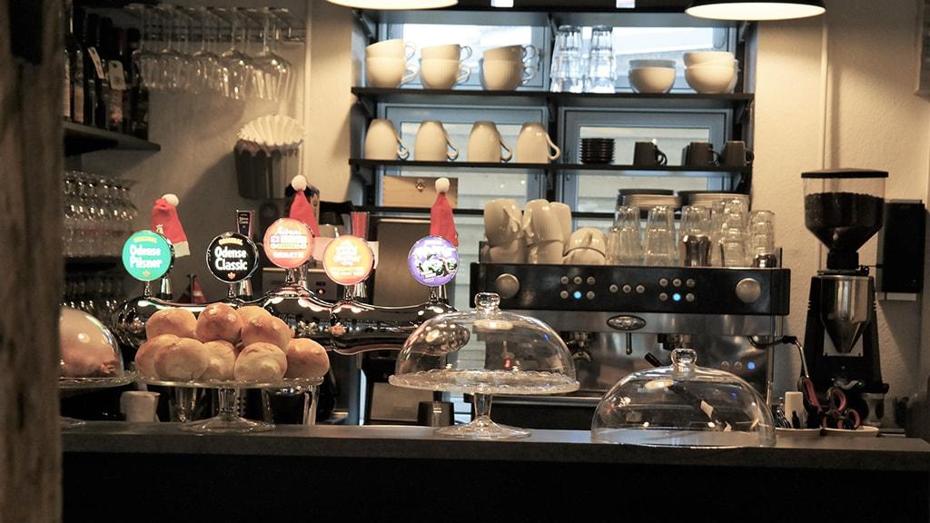 Nyborg Fyn Danmark Jimbos Kaffebar Baren