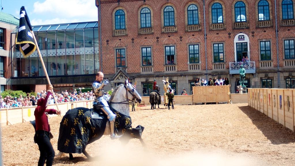 Danehof middelaldermarked Nyborg ridder hest turnering