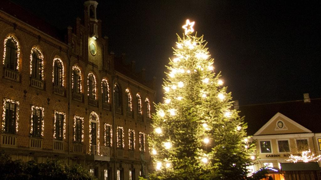 Julemarked i Nyborg Jul i den gamle Kongeby juletræ