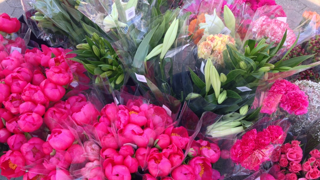 Torvedag Nyborg blomster bonderoser