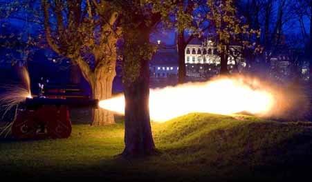 Kanoner på Dronningens Bastion Nyborg salut