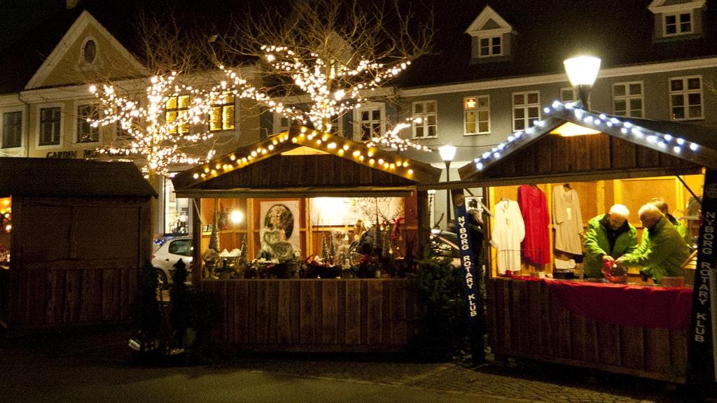 Julemarked i Nyborg Jul i den gamle Kongeby hytte
