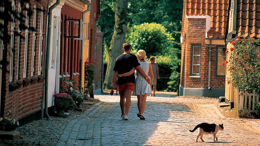 Beautiful streets in Ribe