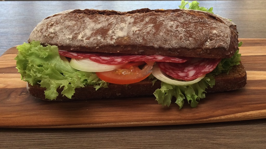 Sandwich at Café Mandøpigen