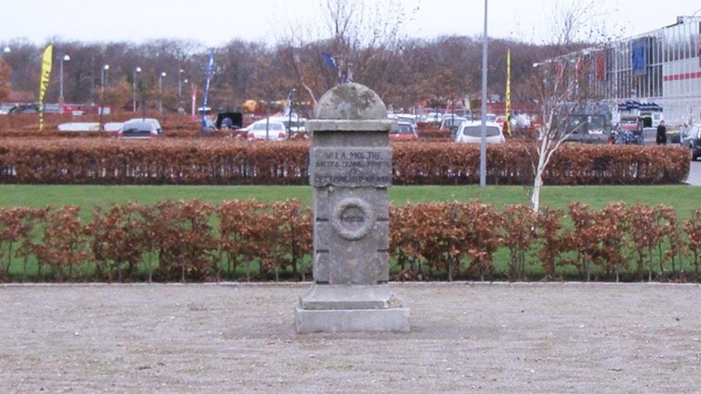 Gedenkstein bei P-Nord in Ribe