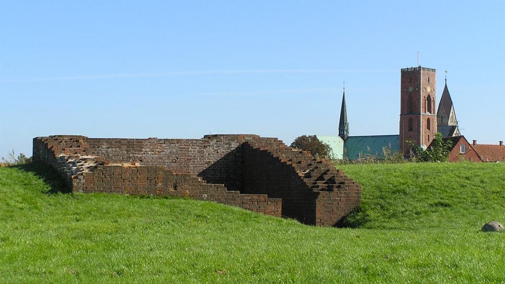 Castle ruin at Riberhus Slotsbanke