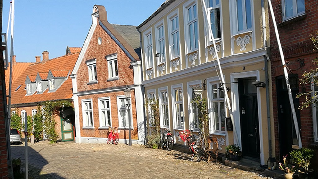The facade on B&B Sortebrødregade | Ribe