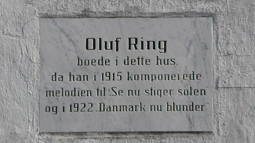 Memorial plaque for composer Oluf Ring