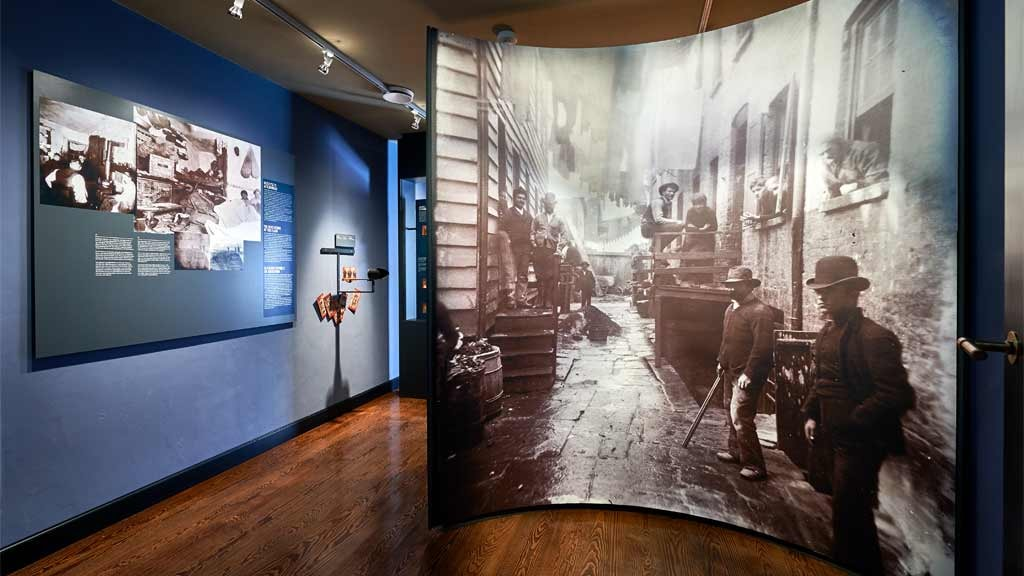 Big picture at Jacob A. Riis Museum