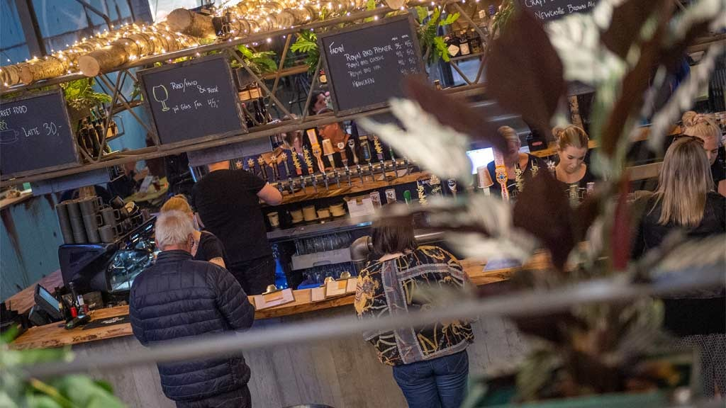 The bar in Street Food Esbjerg