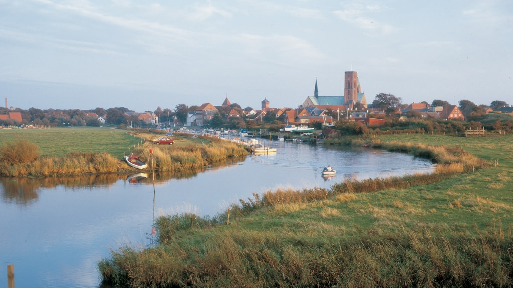 Ribe Å with the Cathedral in the background