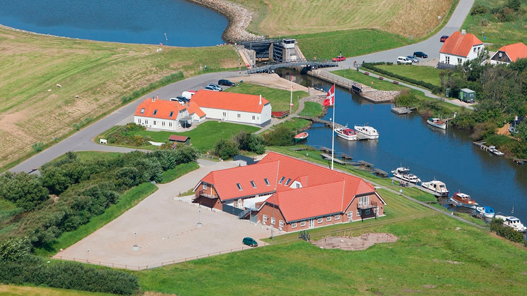Luftbild von Kammerslusen