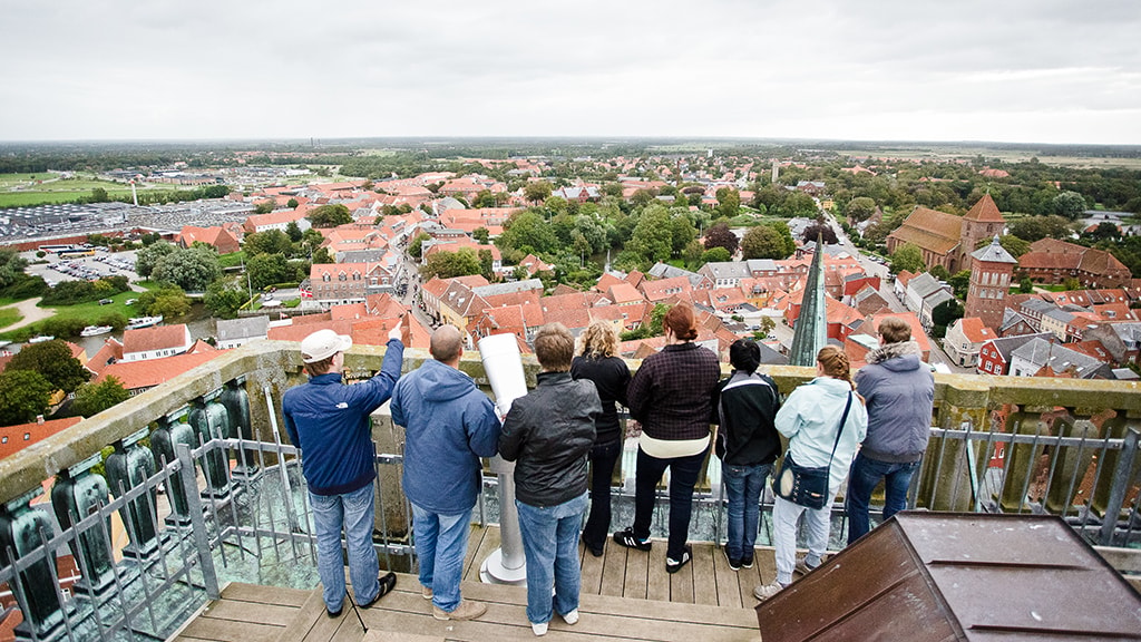 Blick vom Bürgerturm in der Ribe-Kathedrale