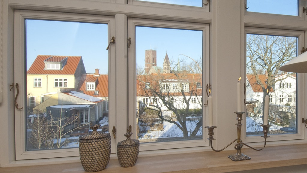 The view from the holiday apartment in Ribe