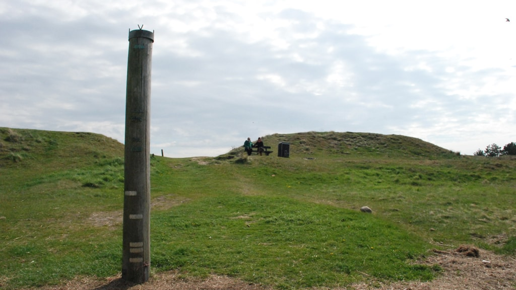 The storm surge column on Mandø
