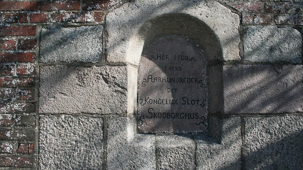 Skodborghus mindesten for gammel kongeborg ved Kongeåen